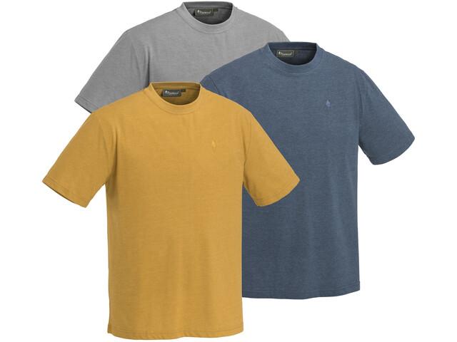 Pinewood Outdoor Camiseta Pack de 3 Hombre, azul/amarillo